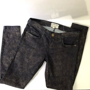 Current Elliott Silver denim coated skinny jeans